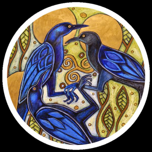 Three Ravens Tee by Lynnette Shelley
