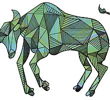 Geometric Taurus in Color  by Casandra Merson