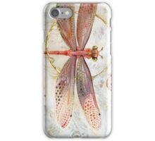 Red Jewel Damselfly iPhone Case/Skin