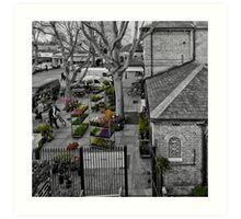 Kew Gardens Tube Station Art Print