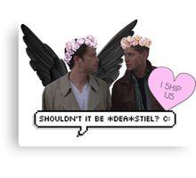 """shouldn't it be *dea*stiel ?"" //DESTIEL  Canvas Print"