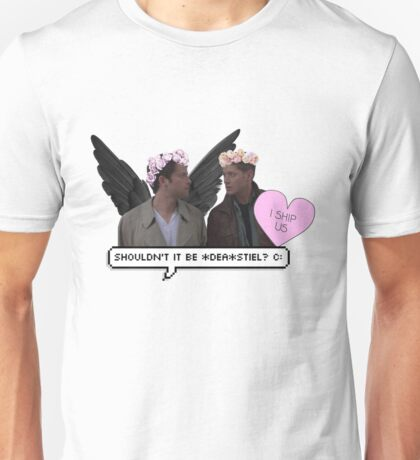 """shouldn't it be *dea*stiel ?"" //DESTIEL  Unisex T-Shirt"