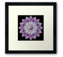 Sun Vector with Gradiation design Framed Print