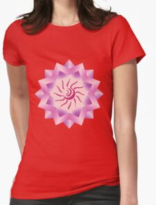 Sun Vector with Gradiation design Womens Fitted T-Shirt