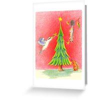 red bush christmas Greeting Card