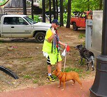 Walking The Dog by WildestArt