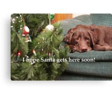 Waiting for Santa Canvas Print