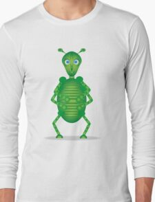 Happy Green Insect Long Sleeve T-Shirt