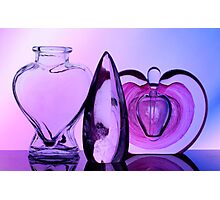 Glass Bottles & Crystal Photographic Print