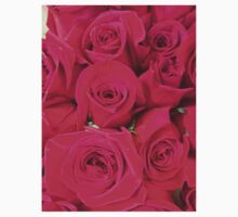 Vibrant Pink Red Roses Kids Clothes