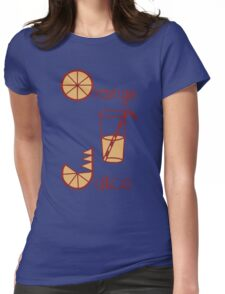 Orange Juice Womens Fitted T-Shirt