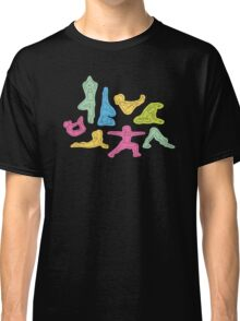 Rainbow Yoga Pattern Classic T-Shirt