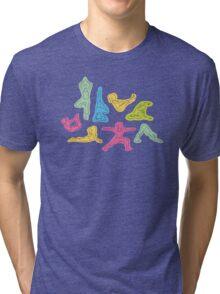 Rainbow Yoga Pattern Tri-blend T-Shirt