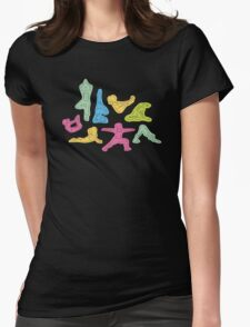 Rainbow Yoga Pattern Womens Fitted T-Shirt