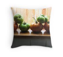 Veggie Gymnasts Throw Pillow