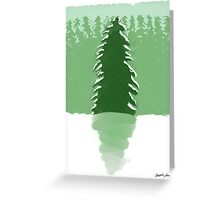 Backlight Evergreen Forest 1 Greeting Card