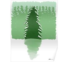 Backlight Evergreen Forest 1 Poster