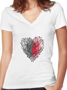 Polygonal Love Women's Fitted V-Neck T-Shirt