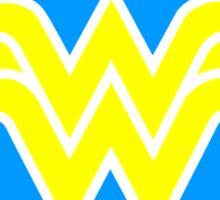 Wonder woman circle and stars logo geek funny nerd Sticker
