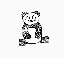 Hipster Zentangle Panda Bear Unisex T-Shirt