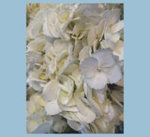 Blue Tipped White Hydrangea Flowers Kids Clothes