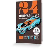 Le Mans Porsche 917 (dark t-shirt) Greeting Card