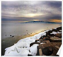Utah Lake - Frozen Poster