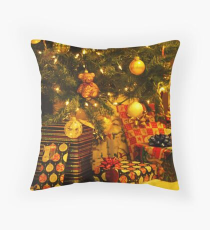 Presents under the Tree Throw Pillow