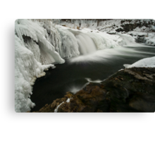 Willow Falls, Winter Canvas Print