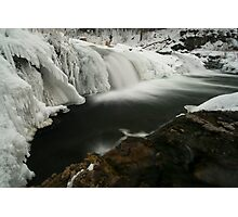 Willow Falls, Winter Photographic Print