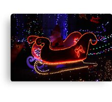 Santa And His Sleigh Canvas Print