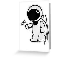 Lonely Astronaut Greeting Card
