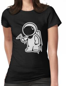 Lonely Astronaut Womens Fitted T-Shirt