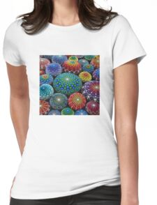 Jewel Drop Mandala Stone Collection #1 Womens Fitted T-Shirt