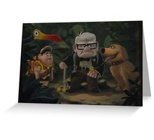Disney Pixar UP Dug Russell Kevin Carl UP Characters Movie Greeting Card