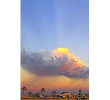 Rain Cloud Over Fremantle  Photographic Print
