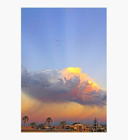 Rain Cloud Over Fremantle  Photographic Print