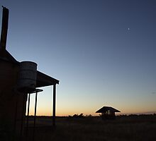Outback sunset blues, Bollon, QLD by Caroline Crawford