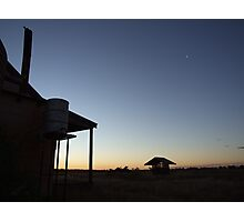 Outback sunset blues, Bollon, QLD Photographic Print
