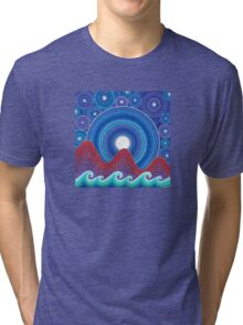 3 mountains and a moon Tri-blend T-Shirt
