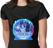Snow Globe T Womens Fitted T-Shirt