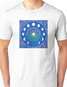 Moon Phase Mandala Unisex T-Shirt