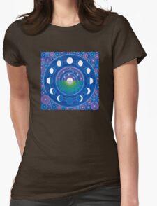 Moon Phase Mandala Womens Fitted T-Shirt
