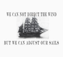 Don't complain.....Adjust your sails to suit the wind. by Les Boucher
