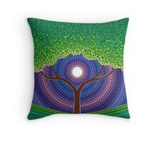 Happy Tree of Life Throw Pillow