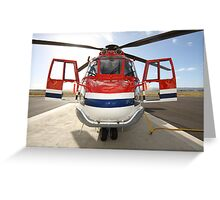 Helicopter Eurocopter AS332L1 Puma Greeting Card