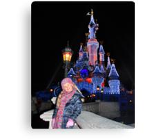 Annabel in Disneyland Canvas Print