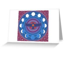 Dance of Wings and Moon Greeting Card