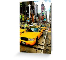 Times Square Taxi - NYC Greeting Card
