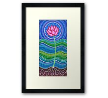 Lotus Growing Framed Print
